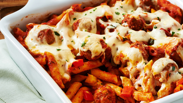 Header image pasta with meat balls main image fustany