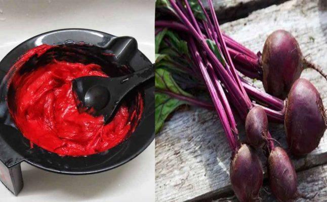 وصفة صبغة البنجر لشعر احمر