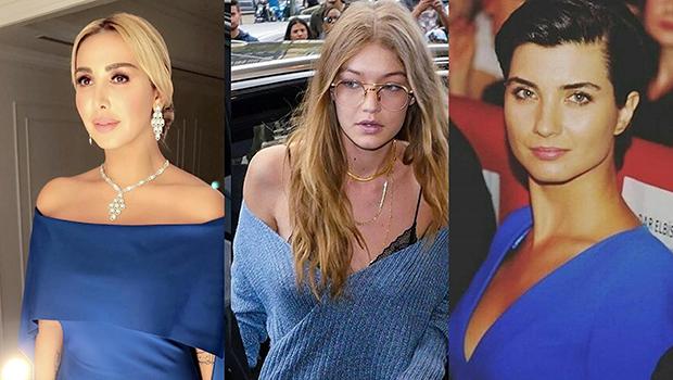 Header image article main celebrity style blue dress joelle tuba gigi hadid ar