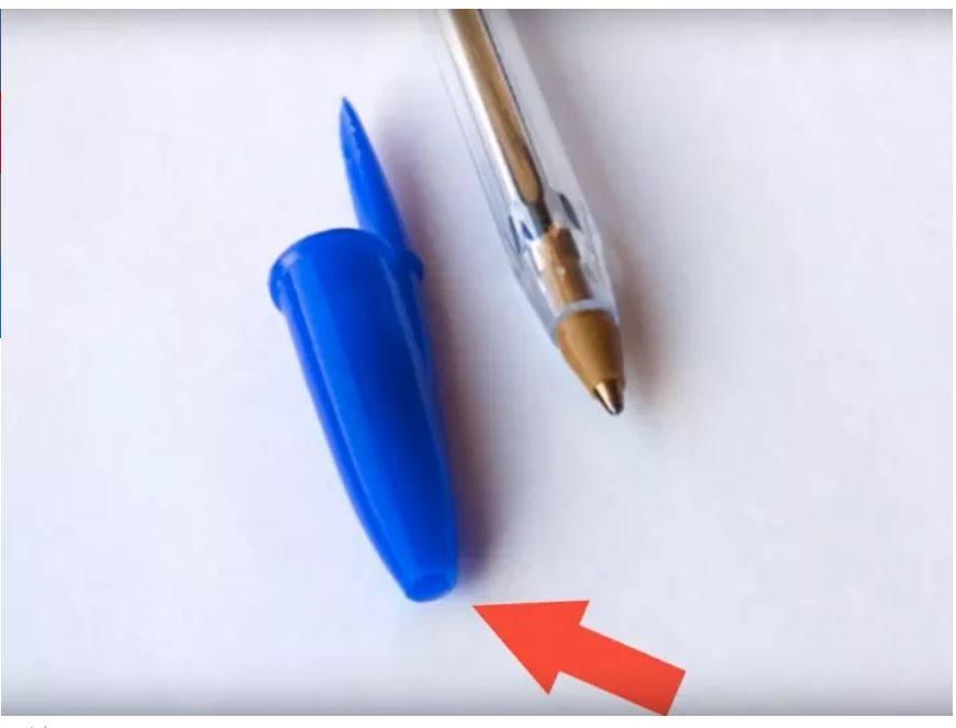 الثقب الموجود في غطاء قلم الحبر